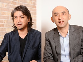 古川明久(左)