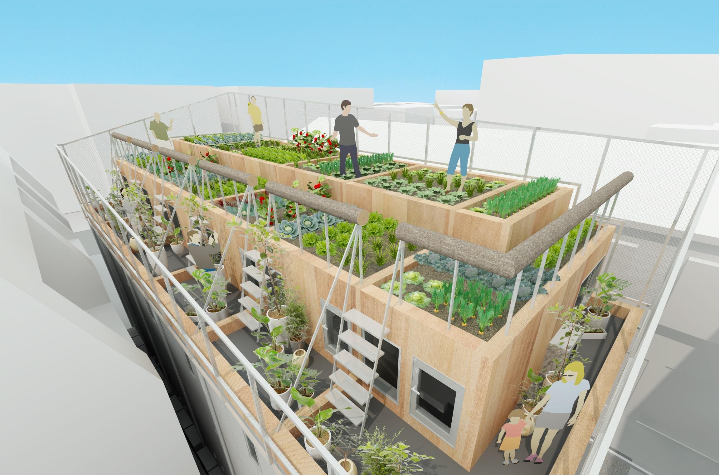 アーキテクト・エージェンシーが大田区東六郷に「菜園長屋」をプロデュース 。