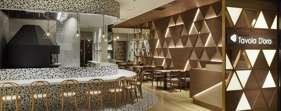 """銀座三越というハイブランドに適した、""""三方よし""""のイタリアンレストラン。カタチにしたのは登録女性デザイナー"""